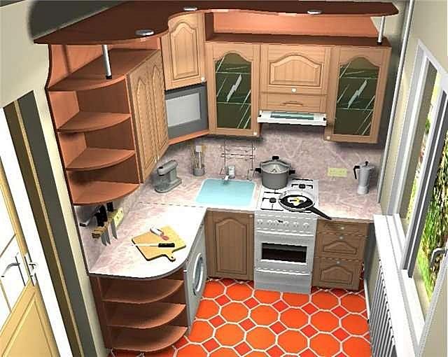 Рабочая зона кухни, безусловно, при планировании должна быть в приоритете