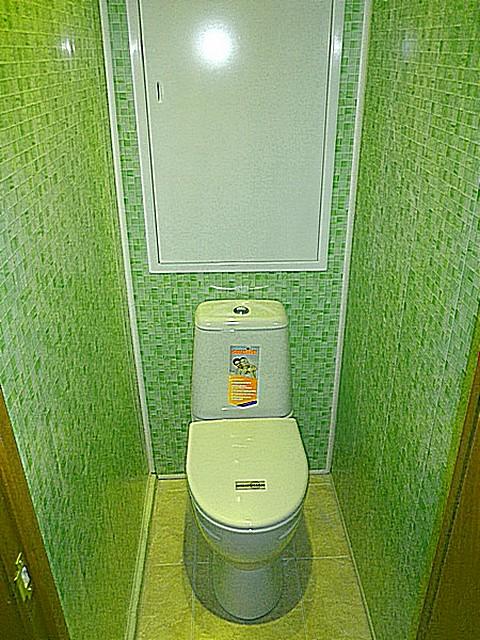 Разнообразие коллекций пластиковых панелей позволяет выполнить оформление туалета в любом задуманном стиле