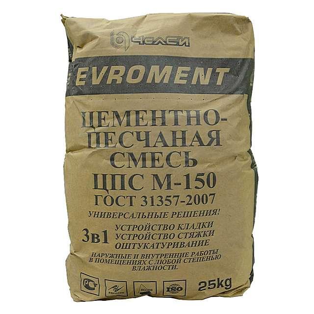 Цементно-песчаная смесь М-150 — очень хороший и недорогой материал для качественной стяжки. Но увы, весьма тяжеловесный.