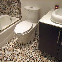 Мозаика на пол в ванной