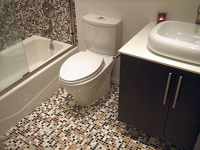 Мозаика на полв ванной