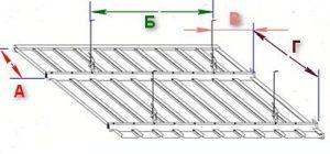 Монтаж подвесного потолка из реек