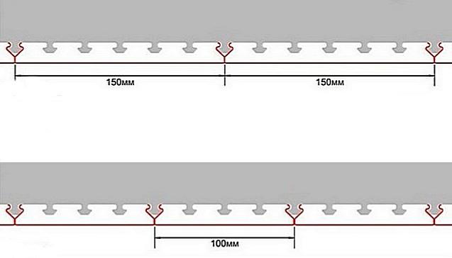 Конфигурация стрингеров и реек такова, что панели плотно прилегают друг к другу по всей своей длине