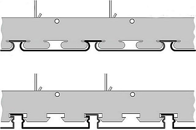 Примеры моделей реечных потолков закрытого типа