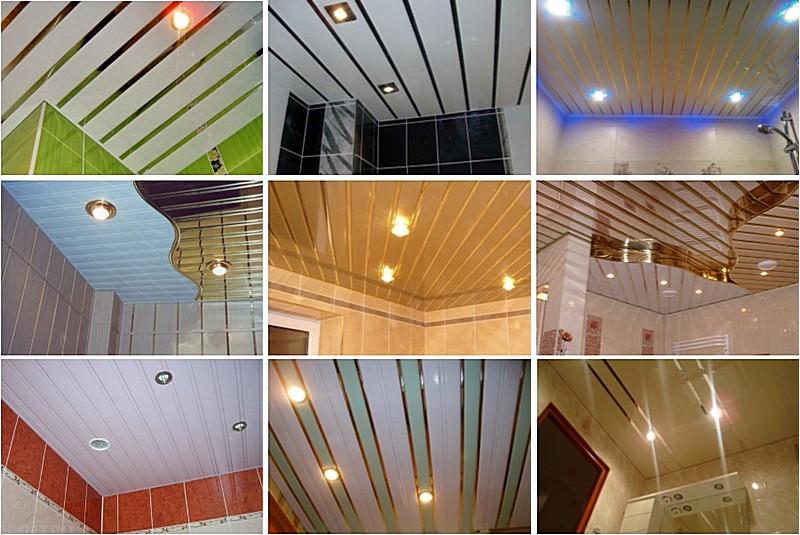 Реечный потолок отлично впишется в любой стиль оформления ванной комнаты или совмещённого санузла