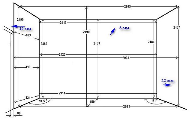 Составление графической схемы со всеми размерами очень помогает и при планировании работы, и при ее проведении.