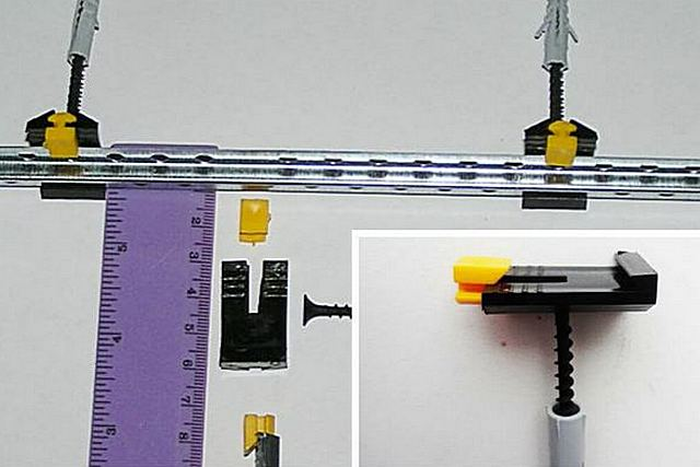 Система фиксации маячковых профилей с пластиковыми составными клипсами
