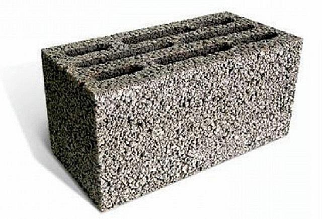 Керамзитобетонный пустотелый блок