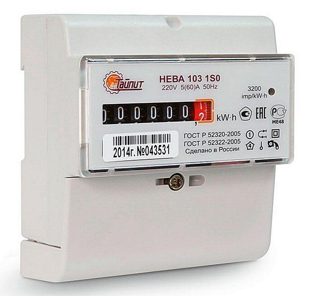 Нева 103 1SO – отлично встраивается в стандартный шкаф с DIN-рейкой