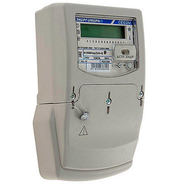 Современный счетчик с возможностью дифференцированного учета потребления Энергомера CE102M S7 145-JV
