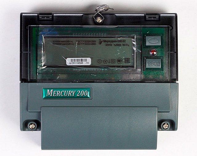 Многотарифный электронный счетчик Меркурий 200.02