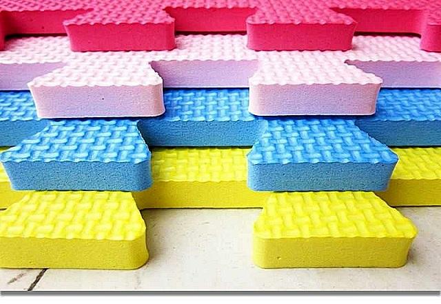 EVA-полимер – современный материал, отлично походящий для покрытия пола в детской