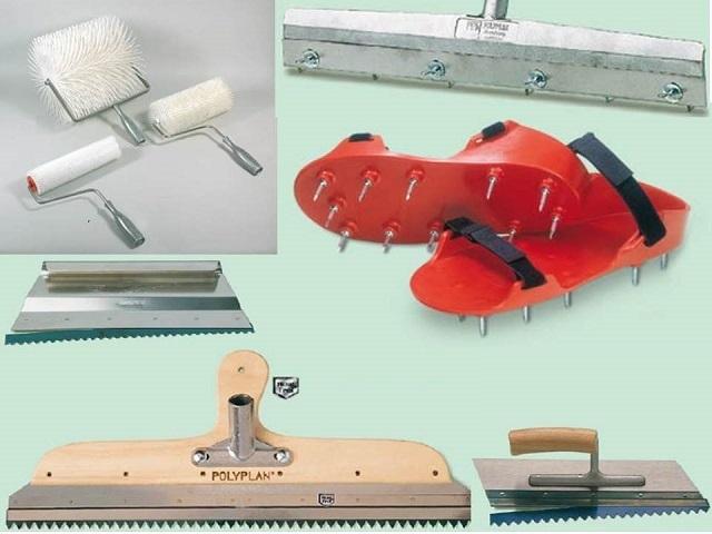 Специфические инструменты для работы с наливными полимерными полами