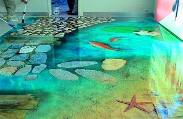 Изображение для декоративного наливного пола может быть как фотографическим, так и рисованным
