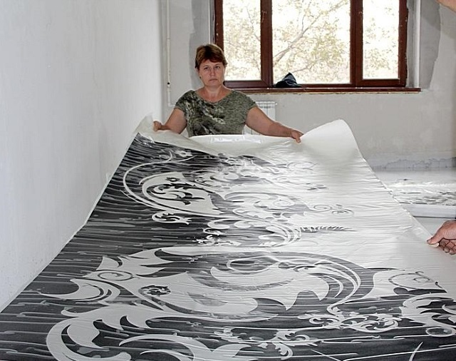 Декоративная подложка под финишный прозрачный наливной слой.