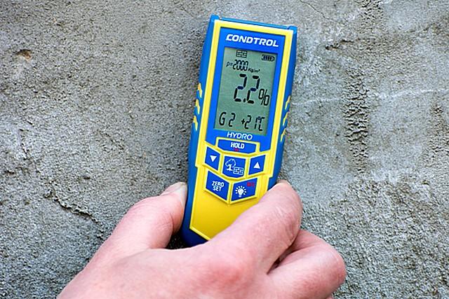 Измерение влажности бетонной стяжки
