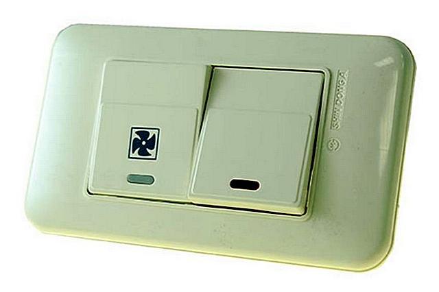 Выпускаются даже специальные модели выключателей для раздельного управления освещением и вентиляцией в ванных комнатах.