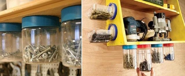 Расходные элементы удобно хранить в пластиковых прозрачных контейнерах с закручивающимися крышками.