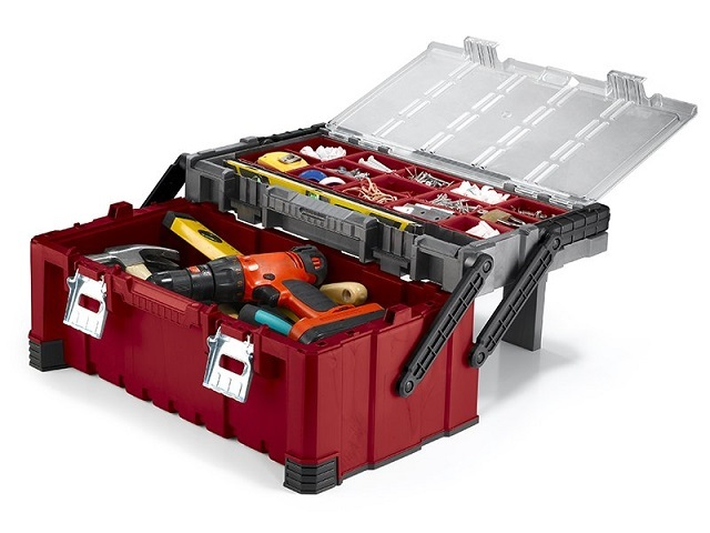 В продаже можно найти контейнеры-органайзеры для инструментов и комплектующих. Они выпускаются различной конструкции и вместимости.