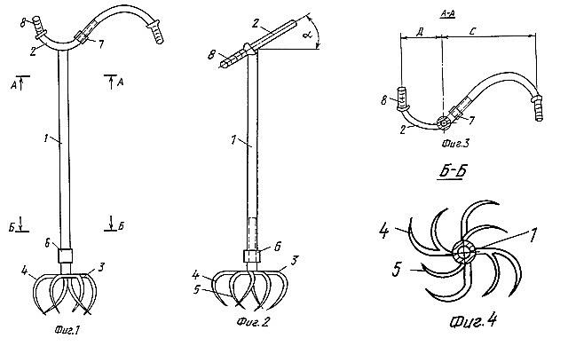 Чертеж, позволяющий хорошо представить конструкцию культиватора «Торнадо». А ручку для культиватора, кстати, вполне можно изготовить из руля от старого ненужного велосипеда.