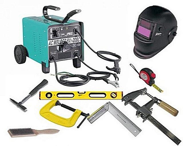 Комплект инструментов, приспособлений и экипировки, необходимыйдля выполнения сварочных работ