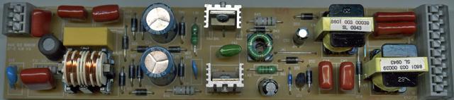 Образцовый электронный балласт. И фильтр помех есть, и транзисторы с радиаторами!