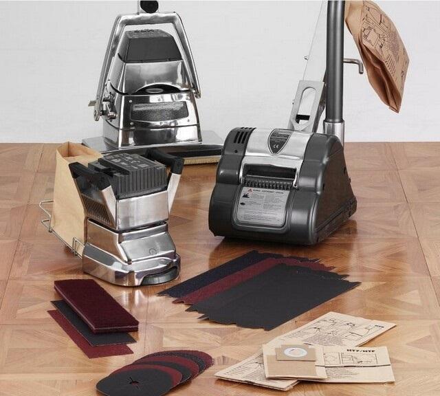 Аппараты для циклевки деревянного пола и насадки для работы.