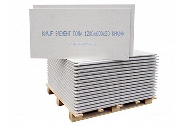 Элементы пола «Knauf» наиболее распространенного размера — 600×1200×20 мм