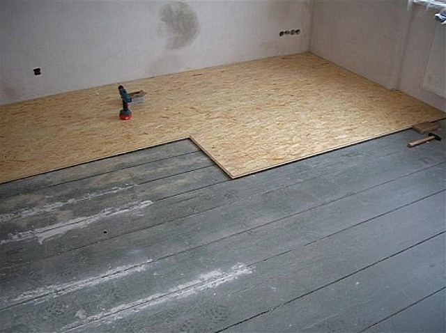 Монтаж OSB на деревянный пол