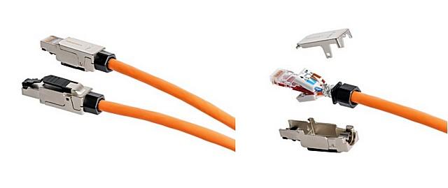 Коннектор NICOMAX — при сборке корпуса ножи контактов пробивают изоляцию проводов и врезаются в них.
