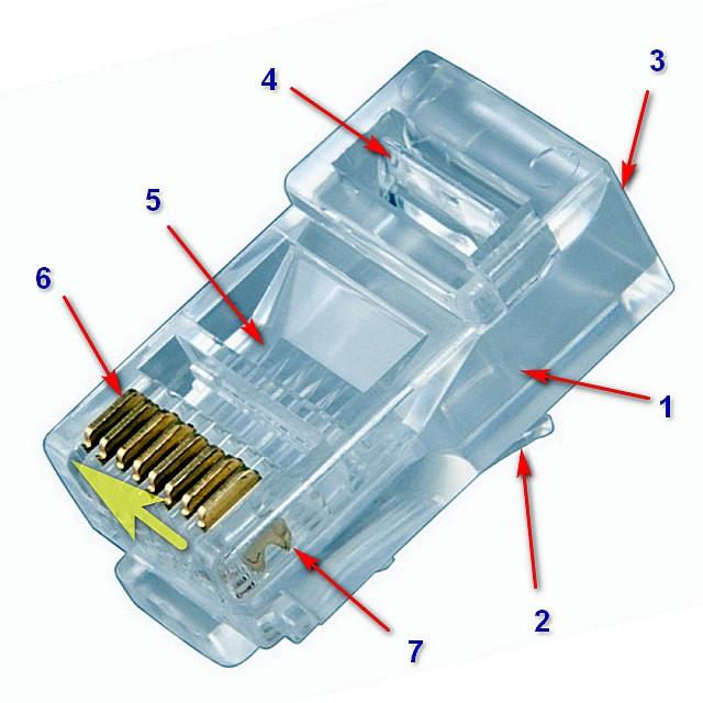 Примерное устройство большинства широко применяемых коннекторов