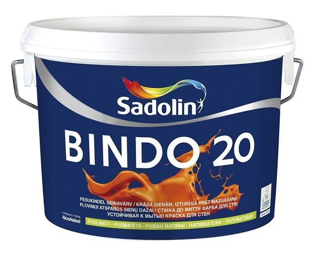 Водоэмульсионная краска для стен «Sadolin», устойчивая к влажным уборкам