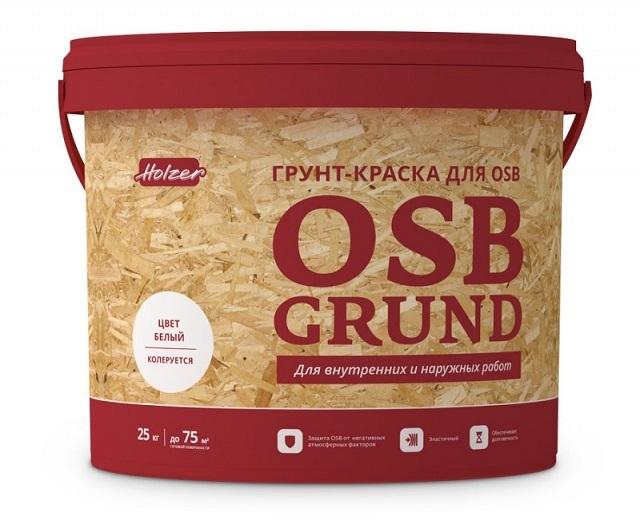 Краска-грунт, разработанная специально для нанесения на ОSB-плиты
