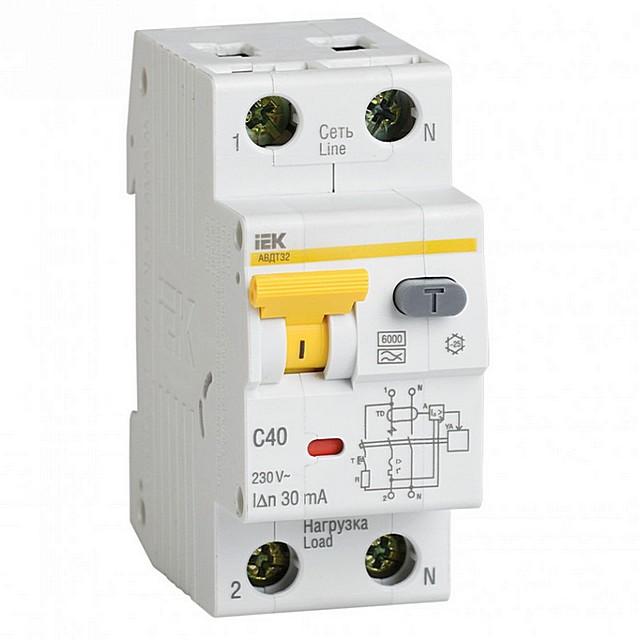 Дифференциальный автомат (АВДТ) – и автомат, и УЗО в одном корпусе