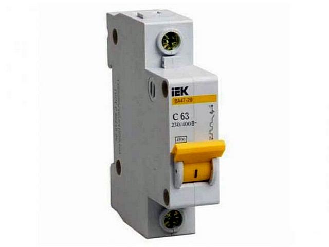 Автоматический выключатель – защищает от перегрузки и последствий короткого замыкания