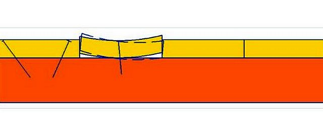 Профиль доски деформировался, например, от усыхания древесины. Скрипа не избежать!