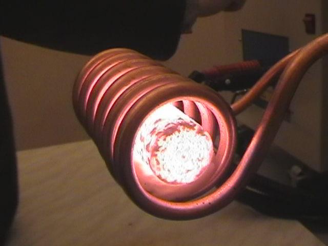 Индукционный нагрев проводящего сердечника токами Фуко в переменном магнитном поле