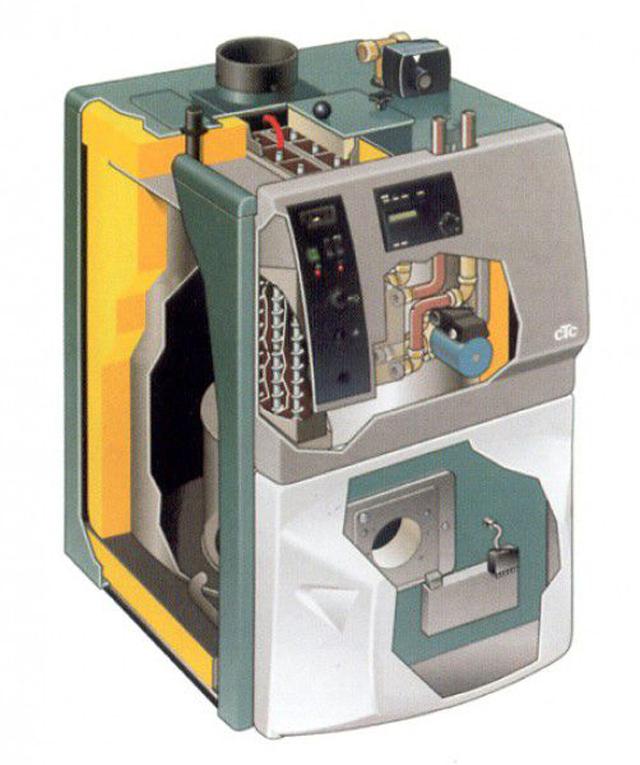 Комбинированный газо-электрический котел отопления