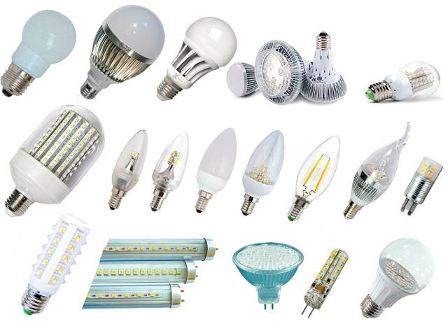Современное разнообразие светодиодных ламп