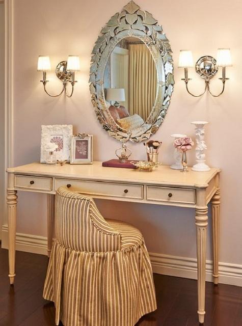 Освещение туалетного столика: без него в спальной – никак, а света для женского «косметического волшебства» требуется немало!