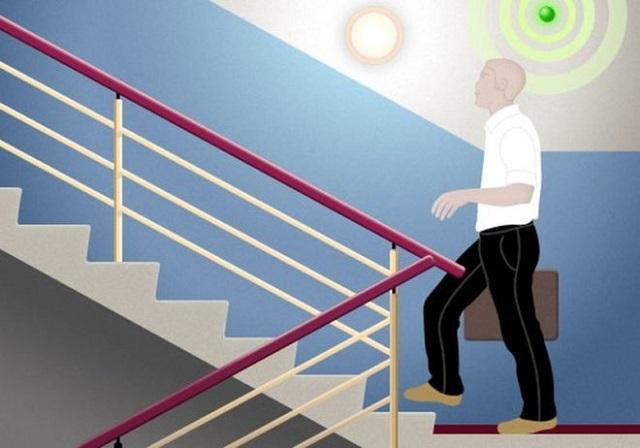 Датчик движения в подъезде – реагирует на перемещение объектов в своей «зоне ответственности»