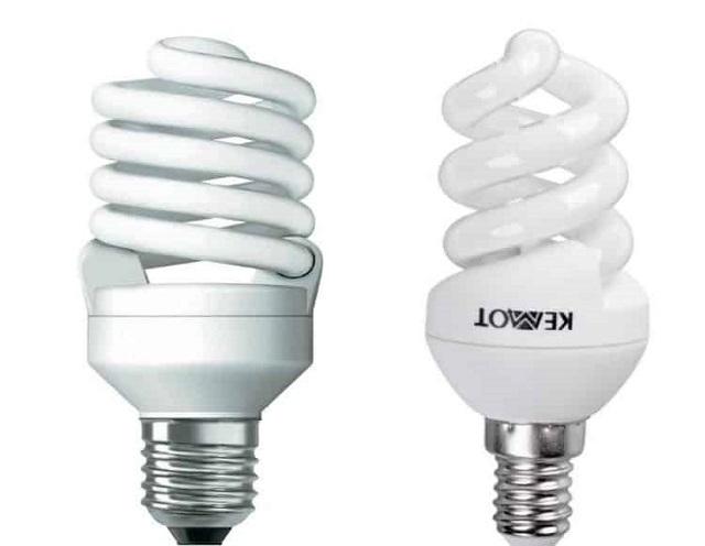 Компактные энергосберегающие люминесцентные лампы.