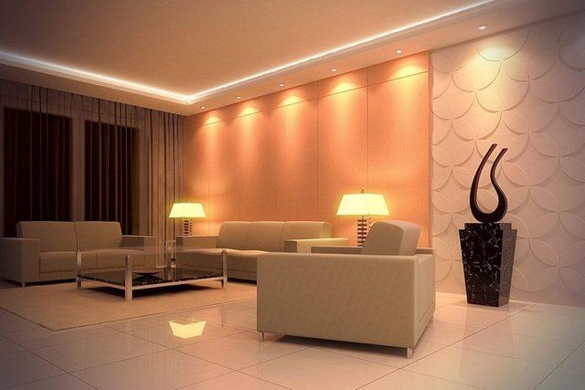 Подсвеченные поверхности потолка или стен сами начинают выступать в роли источников света