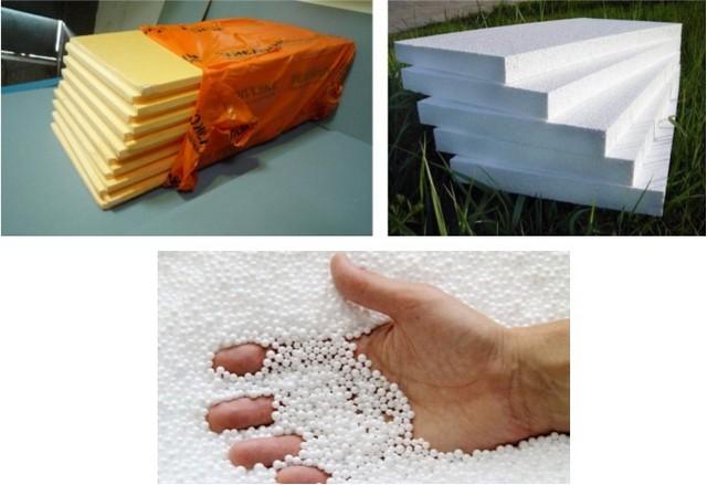 Пенополистирол, как термоизоляционный материал, выпускается или в форме плит с выверенными геометрическими размерами, или в виде вспененных гранул.