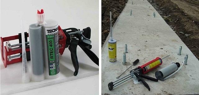 Химические анкеры широко используются для установки металлических крепежных деталей в основную несущую конструкцию.
