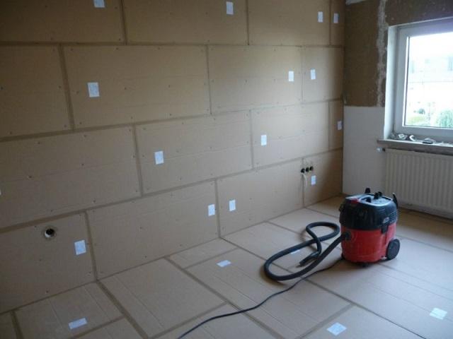 Полная шумоизоляция всех поверхностей помещения.