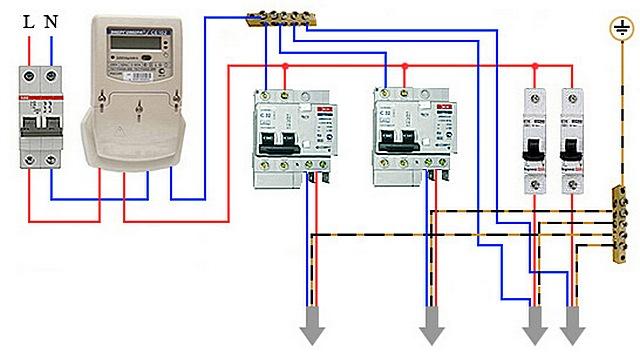 Важные линии защищены индивидуальными дифференциальными автоматами