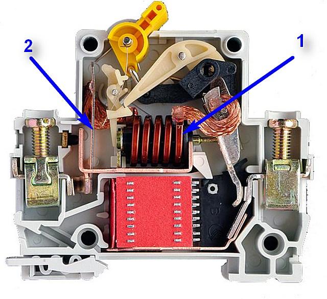 Два уровня защиты, предусмотренные в автоматическом выключателе