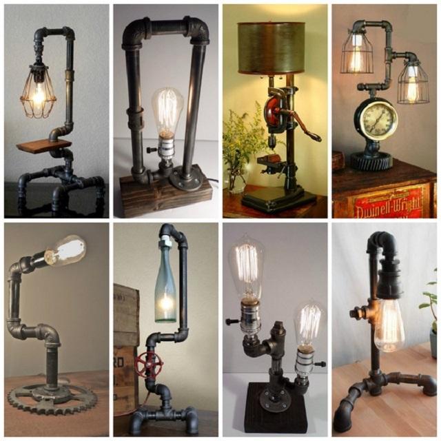 Ассортимент настольных осветительных приборов чрезвычайно широк и разнообразен. Они могут быть изготовлены из металла, дерева, с применением стекла и текстиля. Некоторые домашние мастера и вовсе собственноручно воплощают свои смелые проекты.