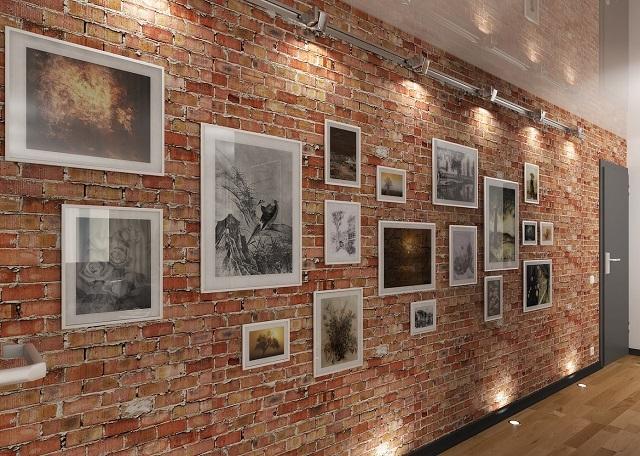 Освещение размещённой на стене «картинной галереи»